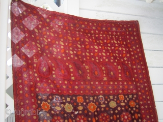 "Asian Textile Art INDONESIA SOUTH SUMATRA PELANGI PULANGI SHOULDER CLOTH 34"" x 94"" great natural colors any question please ask dont know much about textile selling as part of an estate of  ..."