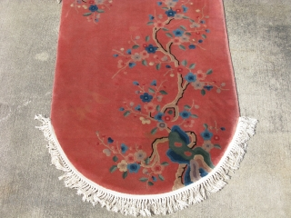 Antique Chinese Art Deco rug, hand knotted wool on a cotton foundation, China ca. 1930, the quality is what is called a 90 Line, which means the rug has an amazing approximate  ...