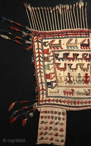 Early 20th century Qashqai horse cover.