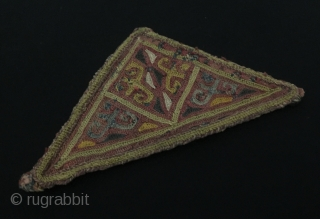 Central-Asia Antique Uzbek embroidery talismanic amulet Fine condition ! Circa - 1900 Size - Lenght : 15 cm - Height : 7.5 Thank you for visiting my rugrabbit store !