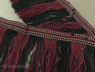 Central-Asia Ethnic Tribal Uzbek Silk Tassel Decorative Wall Hanging Great condition ! Size - Lenght : 205 cm - Height with tassel : 18 cm  Thank you for visiting my rugrabbit  ...