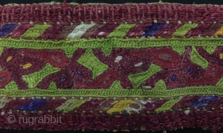 Central-Asia Turkmen Cross Stitch Textile. All Silk Handcrafted Fine condition ! Circa - 1900 Size - ''34 cm x 5 cm'' Thank you for visiting my rugrabbit store !