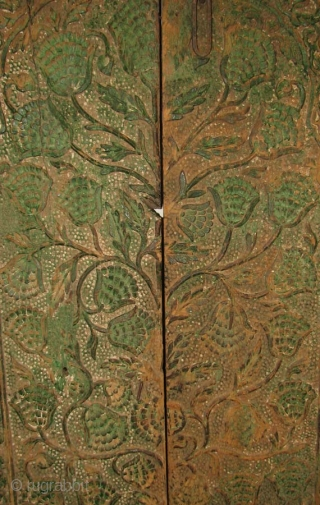 """WOOD003  Wood Door, Pakistan, 19th Century or Earlier, 75"""" x 36.5, Central Carved Panels: 66"""" x 27.5""""    Never seen another pair of doors like these and I spent over  ..."""