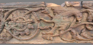"""WOOD001 Lot of 3 Carved Wooden Panels, Pakistan, Mughal Period, 18th Century or Earlier.  6.5"""" x 85"""", 7.5"""" x 120"""", 6.5"""" x 120"""" I bought these in Pakistan in the mid  ..."""