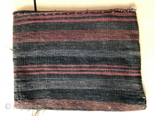 Nice antique Baluch flatwoven bag with animals ca 1920 s Great drawing all wool original back excellent condition