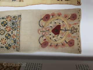 Antique Turkish woman's sash ca 1870 complete piece 170 x 24 cm illustrated in Ottoman embroidery by Roderick Taylor p 35