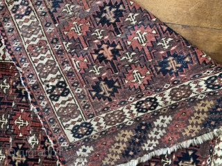 Rare antique chodor ensi all wool natural dyes size 164 x 105 mid 19 c