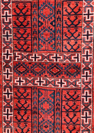 Antique Ersari ensi ca 1880 size 1.7 x 1.46 cm
