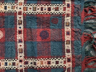 attn Claudio see below Antique flatwoven Verneh made by Azeri people in Kazak area