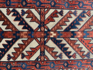A nice (+) Yomud tent band fragment I have ex Patterson collection 171 x 39 cm the end kelim finish has been sewn on but original the other end has borders all  ...