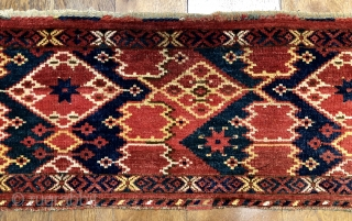 Antique Ersari Beshir trapping late 19 c size 1.39 x .40 m