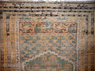 Ancient , venerable, mellow, 18th cent. Kula prayer rug.SOLD