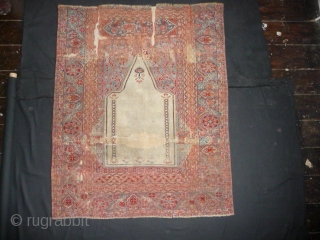 White ground Transylvanian prayer rug, circa 1750.
