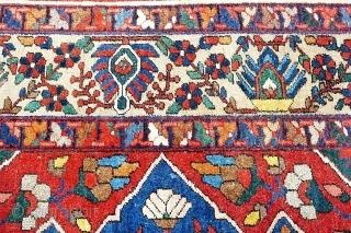 "Beautiful bakhtiari rug around 1920's. Size is 320 x 217 cm / 10'8"" x 7'2"" approx."