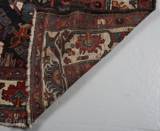 Bakhtiari 222 x 125 cm. Has some repairs.