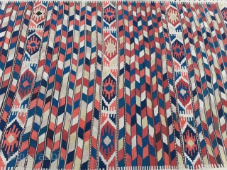 Beautiful Shahsavan Kelim 290 x 164 cm in good condition and with natural dyes.