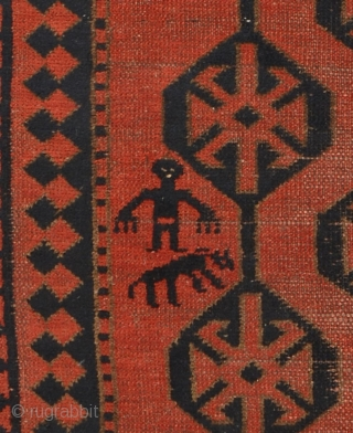 Kyrgyz main carpet (giliam), Central Asia, Ferghana valley, Batken area, late 19th century, 197 x 96 cm