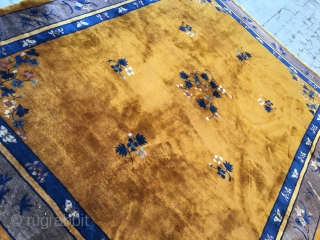 Antique Peking Chinese rug 1900 circa , size 350x275 cm full pile and very good condition,