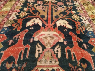 First quarter 20th century Karabagh rug, approx 170sx320cm.