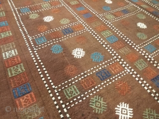 Antique Karabagh Verneh, 1880, size 135*240cm. good condition, wool on wool, natural dyes.
