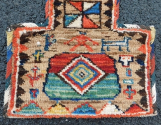 Sahsavan Salt Bag. Antique tribal rug. Ex collection Krause. In my auction Januray 23, 2021. Loz 405. www.homm.me