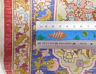 "Crazy fine Hereke silk prayer rug. Özipek. Turkey. 139 cm X 99 cm. 55"" x 39"". In my auction January 23, 2021. Lot # 487. www.homm.me"