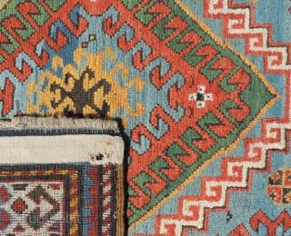 Auction June 15, 2019  Los 410  Kasak Karabagh Teppich. Kaukasus, antik um 1870. 247 cm x 140 cm. Handgeknüpft. Wolle auf Wolle. Naturfarben. Insgesamt sehr guter Zustand.  Lot 410 Kazak Karabagh Carpet. Caucasus, antique around 1870. 247  ...