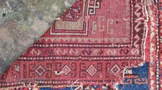 "East Anatolian Kurdish Rug 19th Century 115x367cm/3'8""x2'2"""