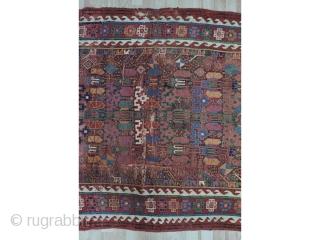 "Antique Persian Sauj Bulagh Rug size:268x145 cm /8'9""x 4'9"""