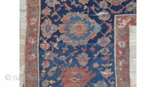 """Oushak Turkish fragment early 18 century size:198x128cm 6'4""""x4'2"""""""