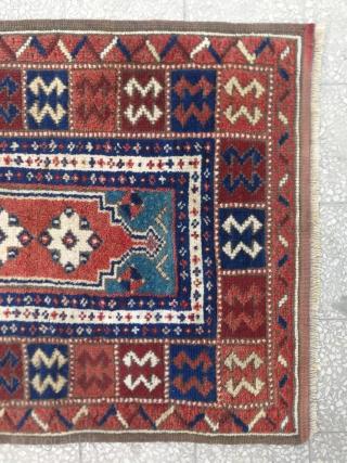 West Anatolian Bergama Rug 19th Century size: 108x73 Cm