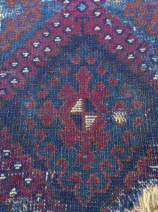 East Anatolian Kurdish Rug fragment size:74x32 cm
