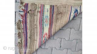 "Central anatolian Konya Karapınar kilim fragment 370x80cm / 12'4""x2'8"""