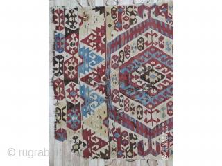 """West Anatolian Mut Kilim 19th Century size:310x150cm / 10'4""""x4'11"""""""