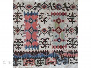 "Central Anatolian Hotamis kilim Rug 19th Century 445x109cm 14'9""x3'3"""