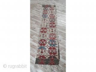 "Anatolian kilim Rug 19th Century Size:9'4""x2'4""/286x73cm"