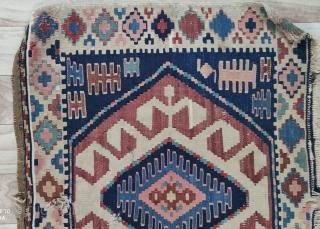 """Shahsewan kilim panel Rug size:110x48cm /3'7""""x1'7"""""""