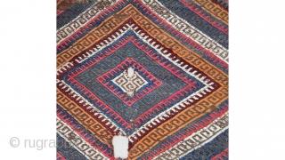 "Central Anatolian (Sivas)kilim bağface size:107x74cm/2'5""x3'6"""