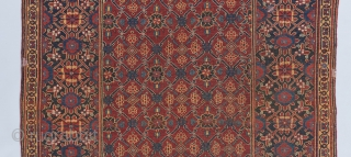 """a Beshir Kelleh with a courtly, Mughalesque lattice field design.  12' x 5'8"""".   Please visit our website for more rare collectible and decorative woven art: www.bbolour.com"""