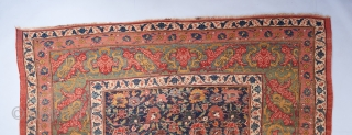 """A gorgeous allover design Bijar. An older one of its type, probably dating to circa 1870. 19 x 11'2"""".   Visit our website for more rare decorative and collectible woven art : www.bbolour.com  ..."""