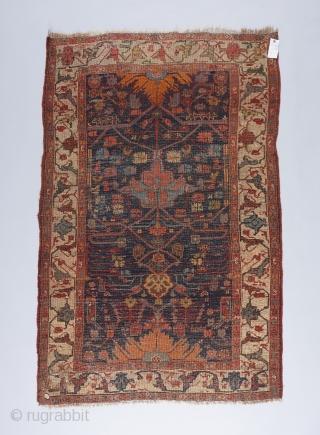"""A real village Bijar rug. 6'2"""" x 4'1""""."""