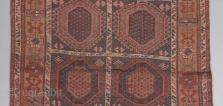 """East Anatolian long rug. 9' x 3'10"""". Some old repairs but almost all original."""