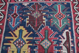 Nice and very fine Kuba kilim ,XIX century .  Powerful colors , he has some small old repair but  the unit is beautiful .  Size: 240/125 cm Ask for more informations and pictures  ...
