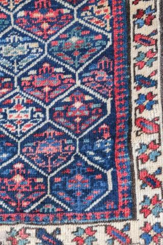 Sahshavan bag face , late 19 century , wool on wool .  Size 56/56 cm .