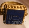 Fatimid Era , 11th Century, Lepus lazuli mounted on gold ring with inscription of 'Allah Akbar' in Kufic script.Beautiful mint condition.