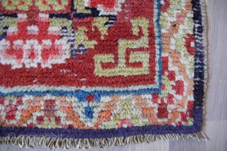 China throne Seat 19th century 54x48cm Wool on cotton  Good condition