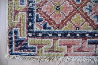Seat mat China 19th century Wool on Cotton good condition Sitze:53x51cm