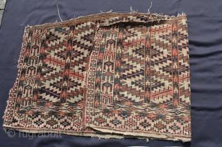 Two Tschaudor? Asmalyk (a few)    Wool on Wool r, good condition. Size: 119x60 -  123x57cm