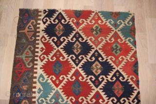Anatolien Kelim (Fragment) Konya region, Wool on Wool with natural colors Dimensions: 190 x 78 cm