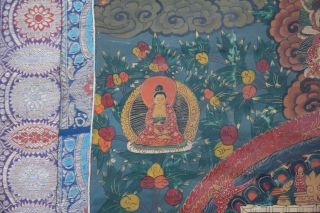 Tanga Tibet Linen painting around 1900 in a good condition SIZE: 104x70 cm